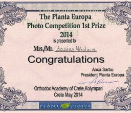 European First Prize  –  PLANTA EUROPA Photo Competition 2014