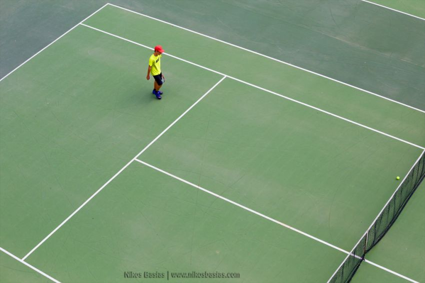 Ball and the lines - Nikolaos Basias Photography