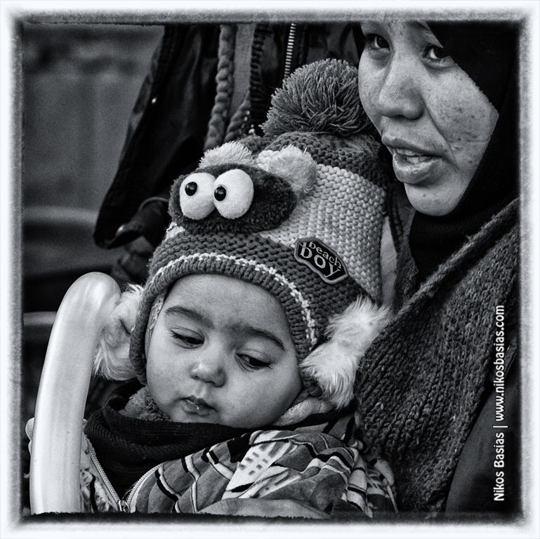 Syrian refugees at Victoria Square-Nikos Basias Photography