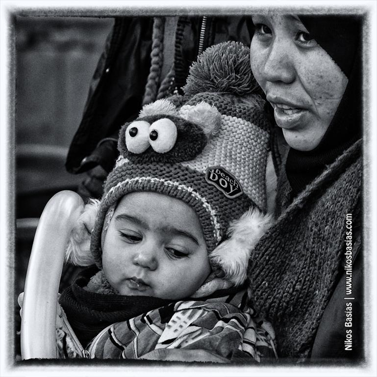 Syrian refugees at Victoria Square-Nikos Basias Photography